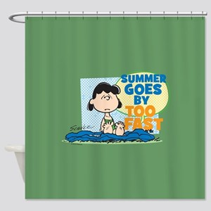 Summer Goes By Too Fast Shower Curtain