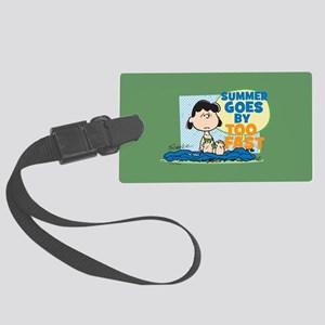 Summer Goes By Too Fast Large Luggage Tag