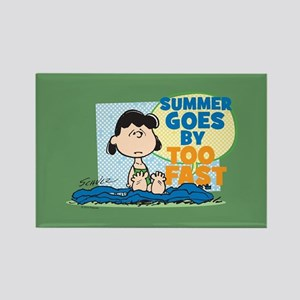 Summer Goes By Too Fast Rectangle Magnet