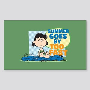 Summer Goes By Too Fast Sticker (Rectangle)