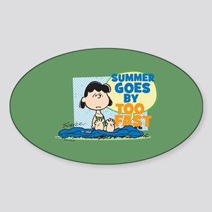 Summer Goes By Too Fast Sticker (Oval)
