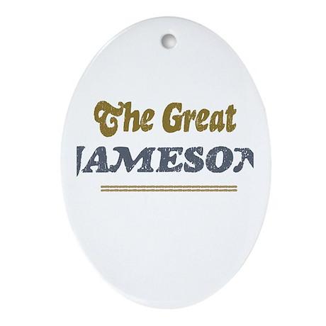 Jameson Oval Ornament