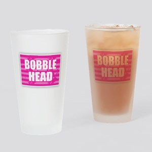 Bobble Head - Pink Drinking Glass