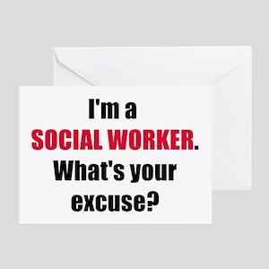 Social Work Excuse Greeting Card