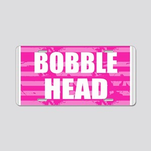 Bobble Head - Pink Aluminum License Plate