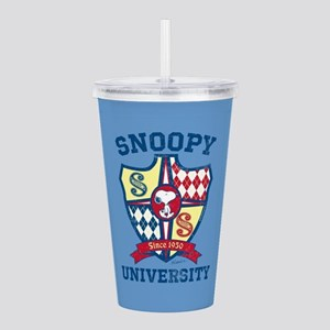 Snoopy University Acrylic Double-wall Tumbler