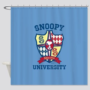 Snoopy University Shower Curtain