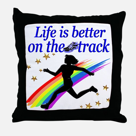 TRACK STAR Throw Pillow