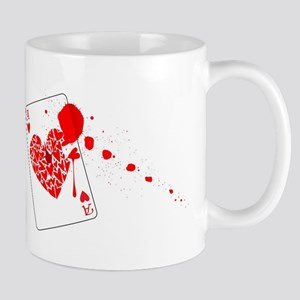 Ace of Hearts With Blood Mugs