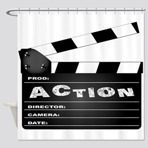 Action Movie Clapperboard Shower Curtain