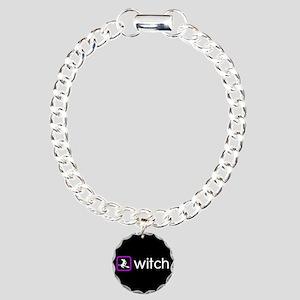 Witch (Poison Purple) Charm Bracelet, One Charm