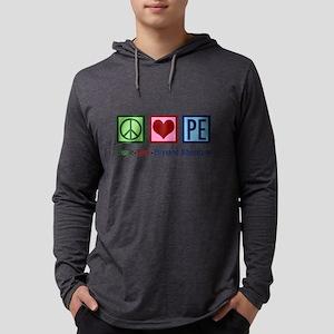 Peace Love PE Teacher Long Sleeve T-Shirt