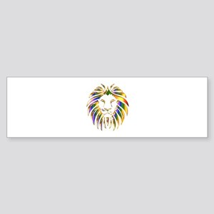 Tribal Lion Bumper Sticker