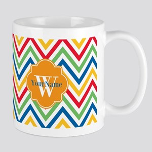 Modern Chevron Custom M Stainless Steel Travel Mug