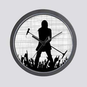 Singer on Stage Grung Wall Clock