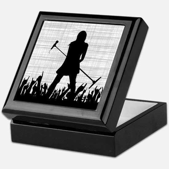 Singer on Stage Grung Keepsake Box