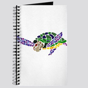 Colorful Sea Turtle Abstract Journal