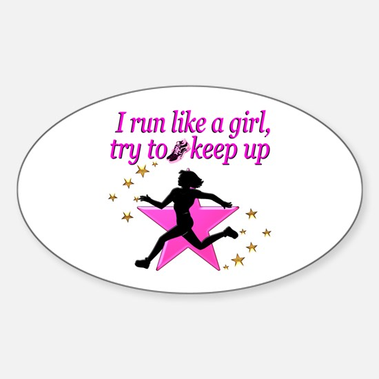 TRACK STAR Sticker (Oval)