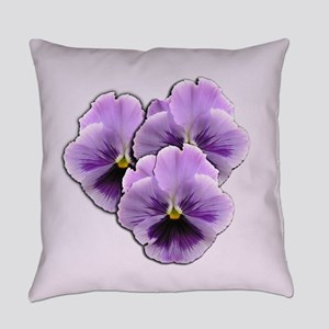 Purple Pansies Everyday Pillow