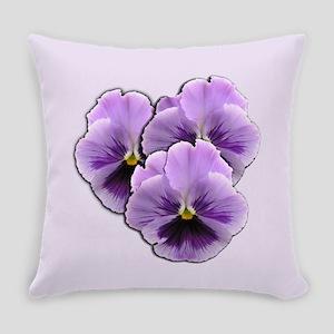 Purple Pansies Everyday Pillow