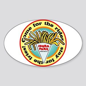 Idora Fries Oval Sticker