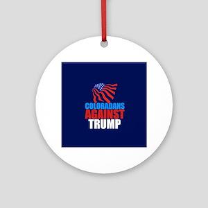 Colorado Anti Trump Round Ornament