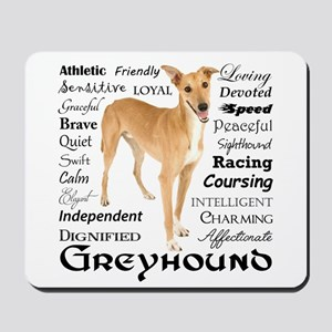 Greyhound Traits Mousepad