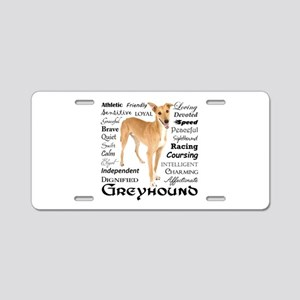 Greyhound Traits Aluminum License Plate