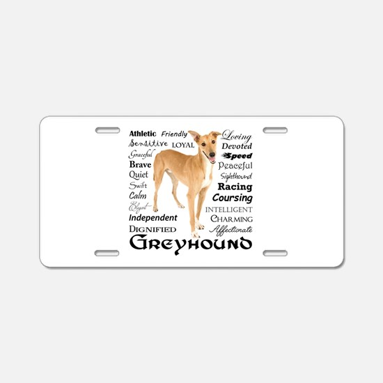 Greyhound Traits Aluminum License Plate