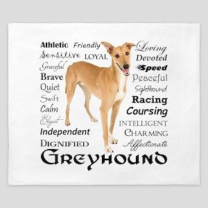 Greyhound Traits King Duvet