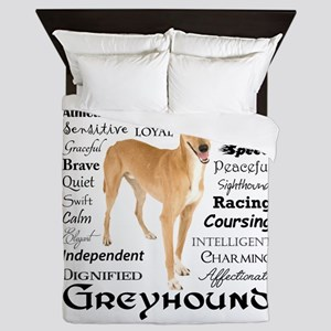 Greyhound Traits Queen Duvet