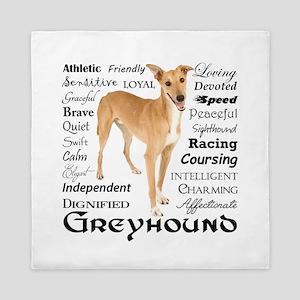 Greyhound Traits Queen Duvet
