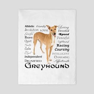 Greyhound Traits Twin Duvet