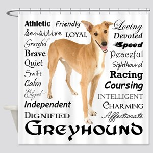 Greyhound Traits Shower Curtain