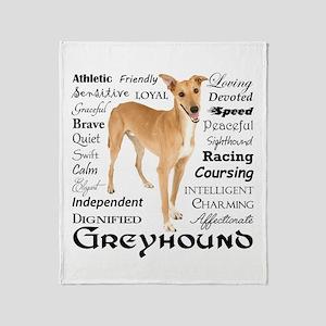 Greyhound Traits Throw Blanket
