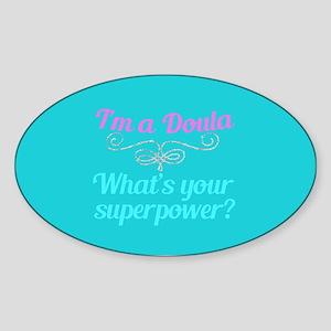 Super Doula Sticker (Oval)