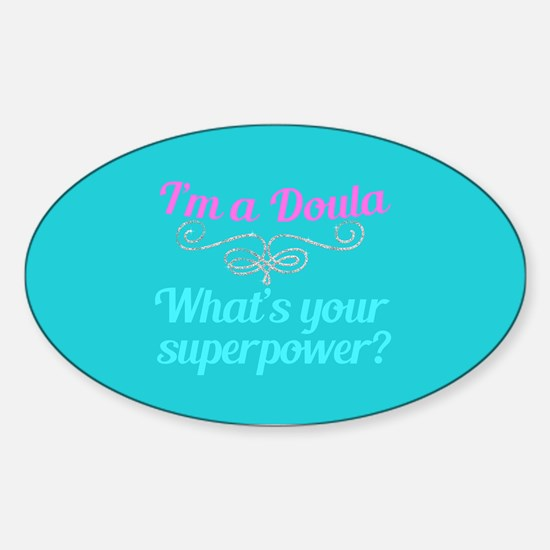 Super Doula Sticker (Oval)