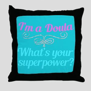 Super Doula Throw Pillow