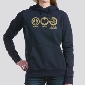 Peace Love Science Teacher Sweatshirt
