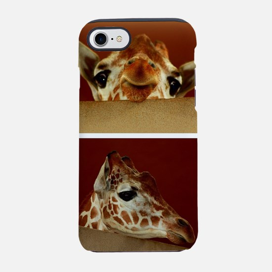 Giraffe Collage iPhone 8/7 Tough Case
