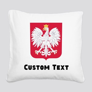 Poland Coat Of Arms Square Canvas Pillow
