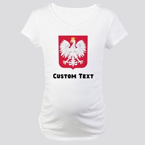 Poland Coat Of Arms Maternity T-Shirt
