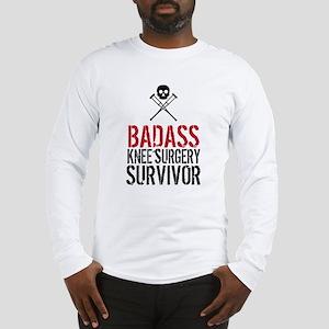 Badass Knee Surgery Survivor Long Sleeve T-Shirt