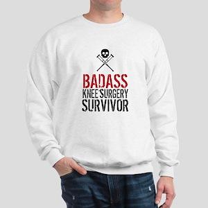 Badass Knee Surgery Survivor Sweatshirt
