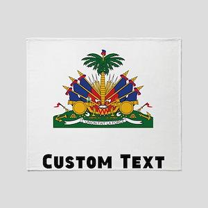 Haiti Coat Of Arms Throw Blanket
