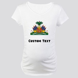 Haiti Coat Of Arms Maternity T-Shirt