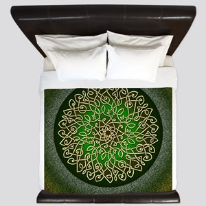 Sage Celtic Burst King Duvet