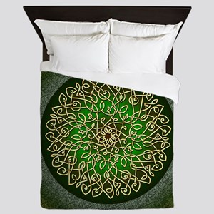 Sage Celtic Burst Queen Duvet