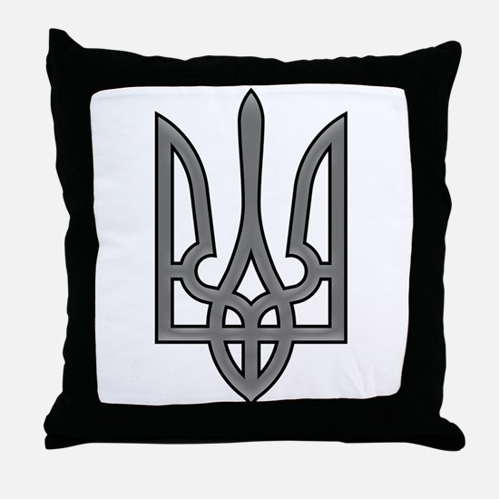 Ukrainian trizub Throw Pillow