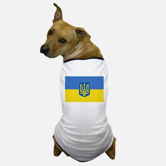 Ukrainian flag, trizub Dog T-Shirt